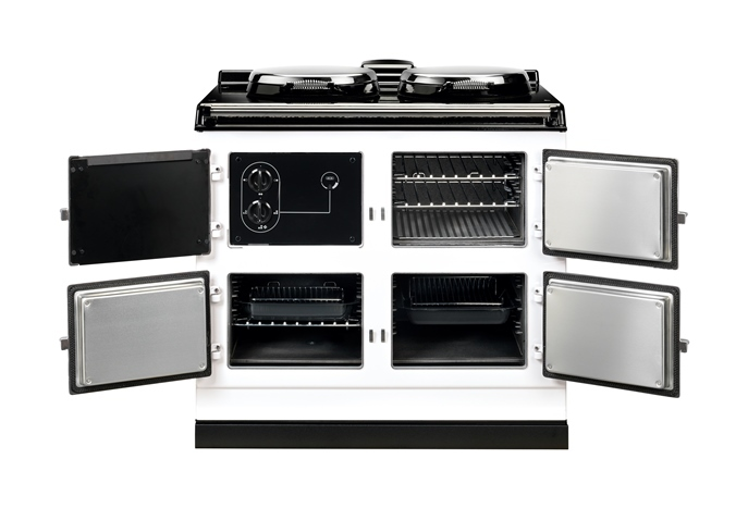 AGA Dual Control Cooker 3 oven model in White