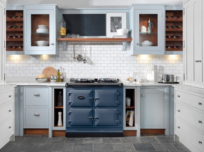 AGA Total Control 3 oven in Dartmouth Blue
