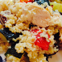 Rainbow Couscous with Chicken