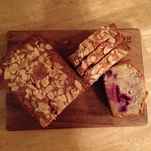 Raspberry & Almond Loaf Cake