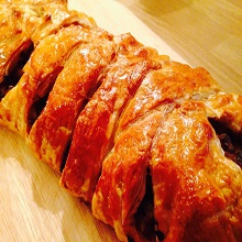 Sausage & Apple Plait